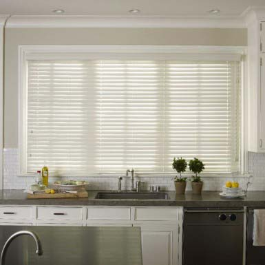 2 Inch faux wood blinds white