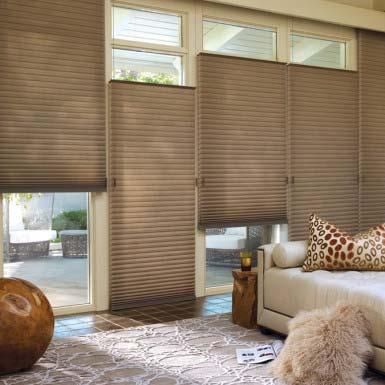 dual control honeycomb shades for privacy