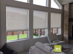 roller shades vancouver living room - ht blinds